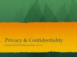 Privacy & Confidentiality PowerPoint PPT Presentation