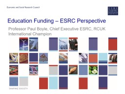 Education Funding – ESRC Perspective