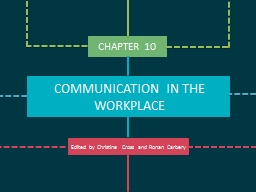 CHAPTER 10 COMMUNICATION IN THE WORKPLACE