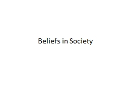 Beliefs in Society Definitions of Religion