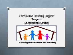 CalWORKs Housing Support