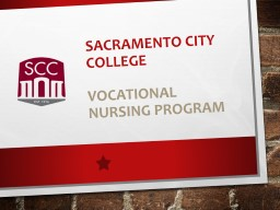 SACRAMENTO CITY COLLEGE VOCATIONAL