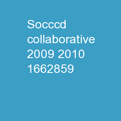 SOCCCD Collaborative 2009-2010