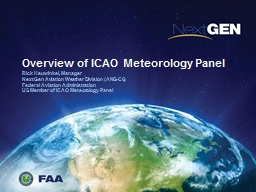 Overview of ICAO Meteorology Panel