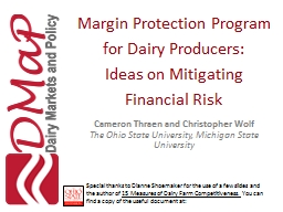 Margin Protection Program for Dairy Producers: