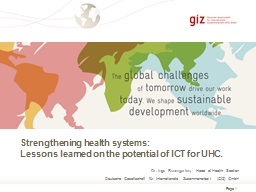 Strengthening health systems: