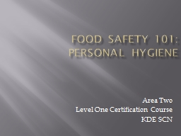 Food Safety 101: Personal Hygiene