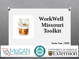 1 WorkWell   Missouri  Toolkit