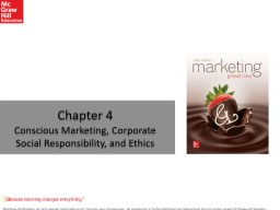 Chapter 4 Conscious Marketing, Corporate Social Responsibility, and Ethics