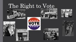 The Right to Vote History of Voting Rights