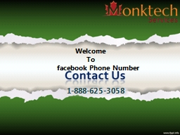 Welcome  	      To  facebook Phone Number