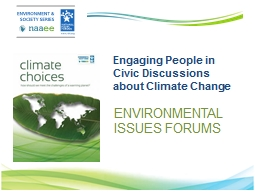 Engaging People in Civic Discussions about Climate Change