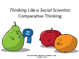 Thinking Like a Social Scientist: