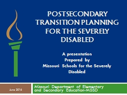 Postsecondary Transition Planning