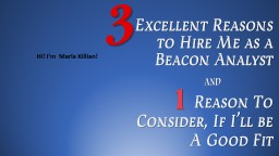 Excellent Reasons to  Hire
