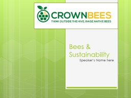 Bees & Sustainability