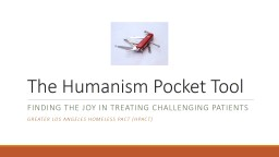 The Humanism Pocket Tool PowerPoint PPT Presentation