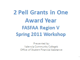 2 Pell Grants in One Award Year