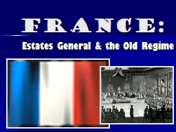 France: Estates General & the Old Regime