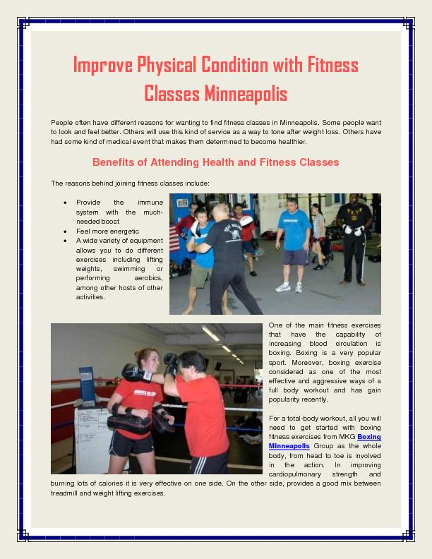 Fitness Classes Minneapolis