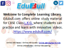 LKG Learning Classes | LKG Learning App