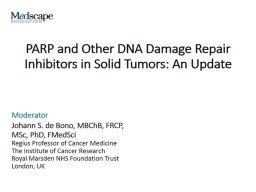 PARP and Other DNA Damage Repair Inhibitors in Solid Tumors: An Update