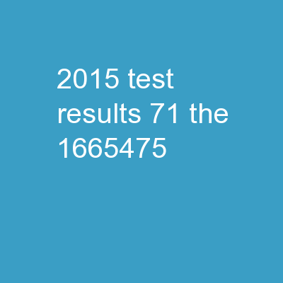 2015 Test Results #71 The