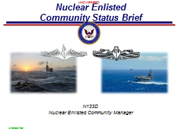 N133D Nuclear Enlisted Community Manager PowerPoint PPT Presentation