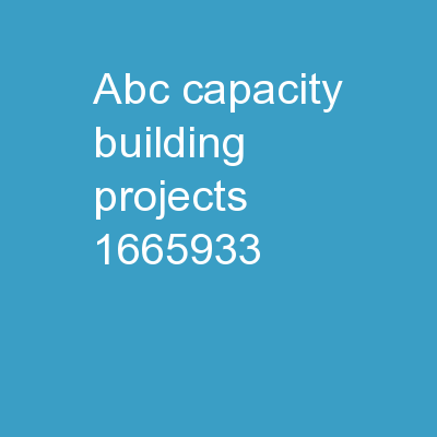 ABC Capacity Building Projects