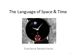 The Language of Space & Time