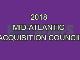 2018 MID-ATLANTIC ACQUISITION COUNCIL