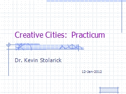 Creative Cities:  Practicum