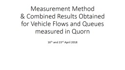 Measurement Method  & Combined Results Obtained