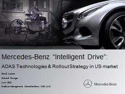 "Mercedes-Benz ""Intelligent Drive"":"