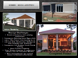 Design Challenges Blend esthetically with existing architecture PowerPoint Presentation, PPT - DocSlides