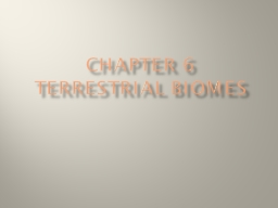 Chapter 6 Terrestrial biomes PowerPoint PPT Presentation