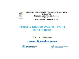 GENERAL DIRECTORATE OF LAND REGISTRY AND CADASTRE