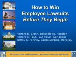 How to Win Employee Lawsuits