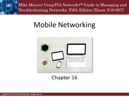 Mobile Networking Chapter 16