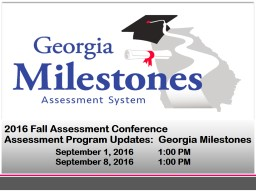 2016 Fall Assessment Conference