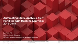Automating  Static Analysis