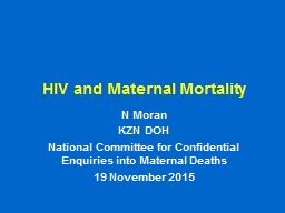 HIV and Maternal  Mortality