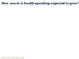 How much is health spending expected to grow?