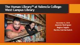 The  Human Library™ at Valencia College- West Campus Library