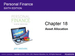 Personal Finance SIXTH  EDITION