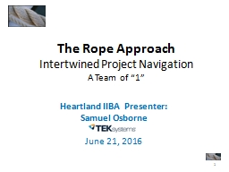 The Rope Approach Intertwined Project Navigation