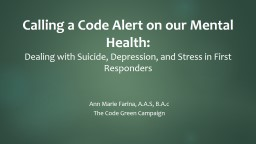Calling a Code Alert on our Mental Health: