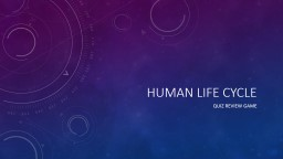 Human life cycle Quiz review game