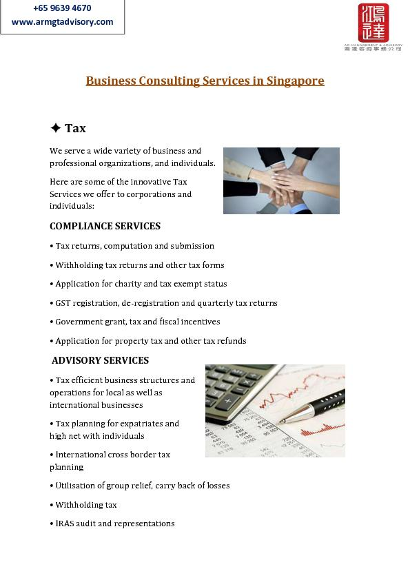 Business Consulting Services in Singapore