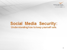 Social Media Security: Understanding how to keep yourself safe.